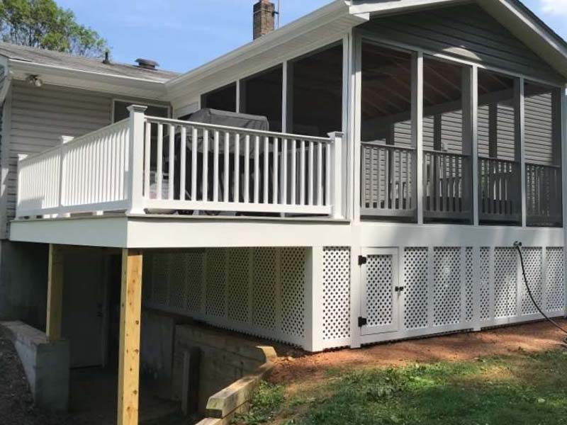 Screen porch and deck addition by LeFaivre Construction Company