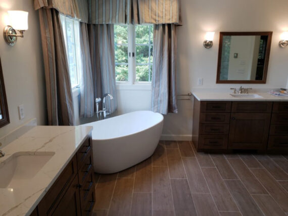 Master bathroom remodel by LeFaivre Construction Company.