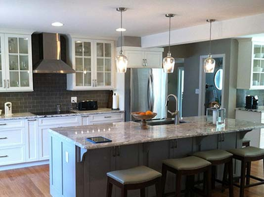 Kitchen remodel completed by LeFaivre home contractors.