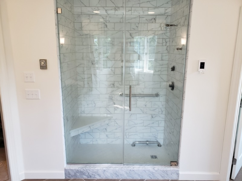 Bathroom Shower built and designed by LeFaivre Bathroom Contractors