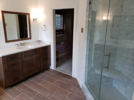 Master bathroom remodel and design.