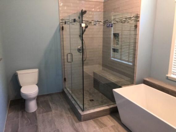 Master Bath remodel by LeFaivre home contractors.
